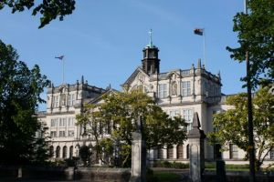 One of Cardiff's government buildings.