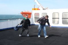 It was really windy on the ferry!
