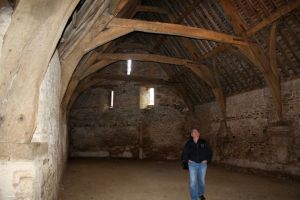 Blaik liked the old tithe barn in Lacock Village.