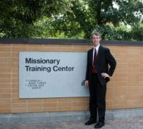 Just before entering the Missionary Training Center in Provo, Utah
